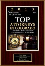 Top Attorneys in Colorado 2013 award